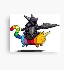 Rainbow and The Dark Knight Canvas Print