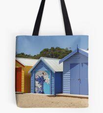 Beach boxes Tote Bag