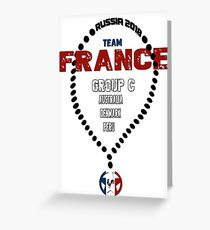 World Cup 2018 Team  France  Greeting Card