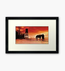 Red Sky at Night Cowboys Delight Framed Print