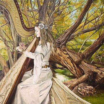 Harpist of the Valley by FrancoisArt