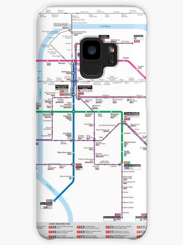Lyon France Metro Map.Lyon Metro Map France Cases Skins For Samsung Galaxy By