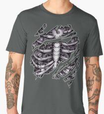 Steampunk terminator Cyborg robot body torn tee tshirt Men's Premium T-Shirt
