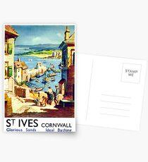 St. Ives, seaside, Cornwall, vintage travel poster Postcards