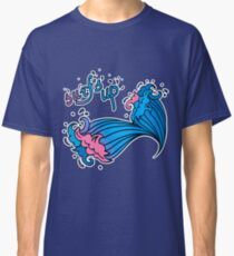 Surf s up with cartoon waves  Classic T-Shirt