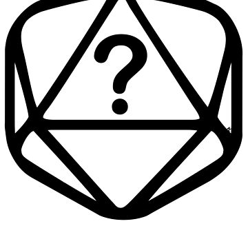 D20 Mystery Black Lines Dice Pattern by GrimsD20s