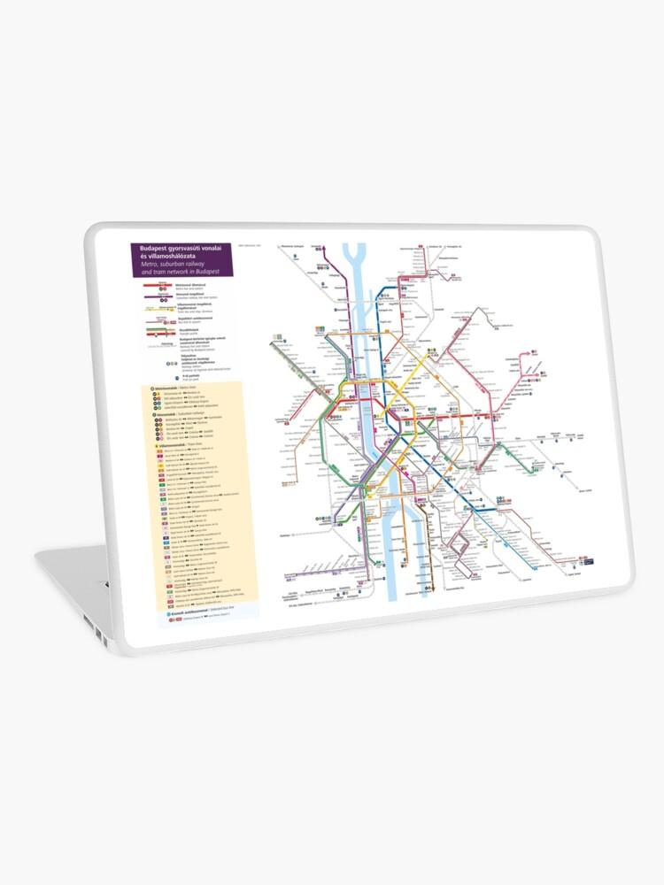Metro Karte Budapest.Budapest Metro Tram Eisenbahn Karte Ungarn Laptop Folie