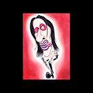 Rockstar Karikatur, die dunkles gotisches Metall zeichnet von MMPhotographyUK