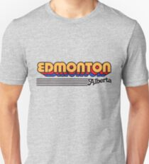 Edmonton, Alberta | Retro Stripes Unisex T-Shirt