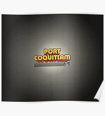 Port Coquitlam, BC   Retro Stripes Poster