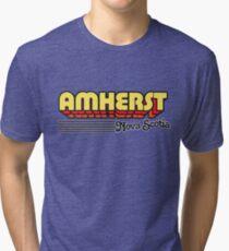Amherst, Nova Scotia | Retro Stripes Tri-blend T-Shirt