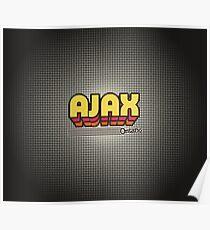 Ajax, Ontario   Retro Stripes Poster