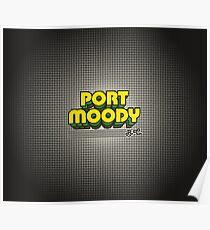 Port Moody, BC   Retro Stripes Poster