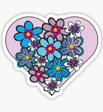 Hippy Happy Heart Sticker