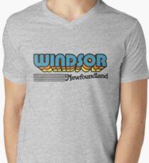 Windsor, Newfoundland | Retro Stripes Men's V-Neck T-Shirt