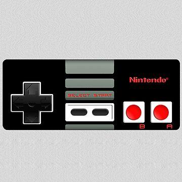 Clásico juego de control retro vintage de GalihArt