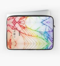 Broken Damaged Cracked out back White iphone Photograph Laptop Sleeve
