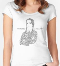Wednesday in The Addams Family  Women's Fitted Scoop T-Shirt