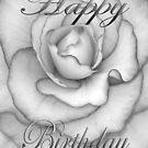 Birthday Flower white and black  by martinspixs