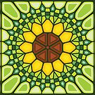 Abstract sunflower - Voronoi by enriquev242