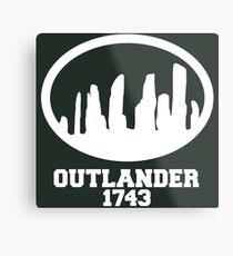 Outlander Stones White Metal Print