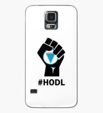 HODL Verge-Fist HODLing XVG Logo-black Case/Skin for Samsung Galaxy