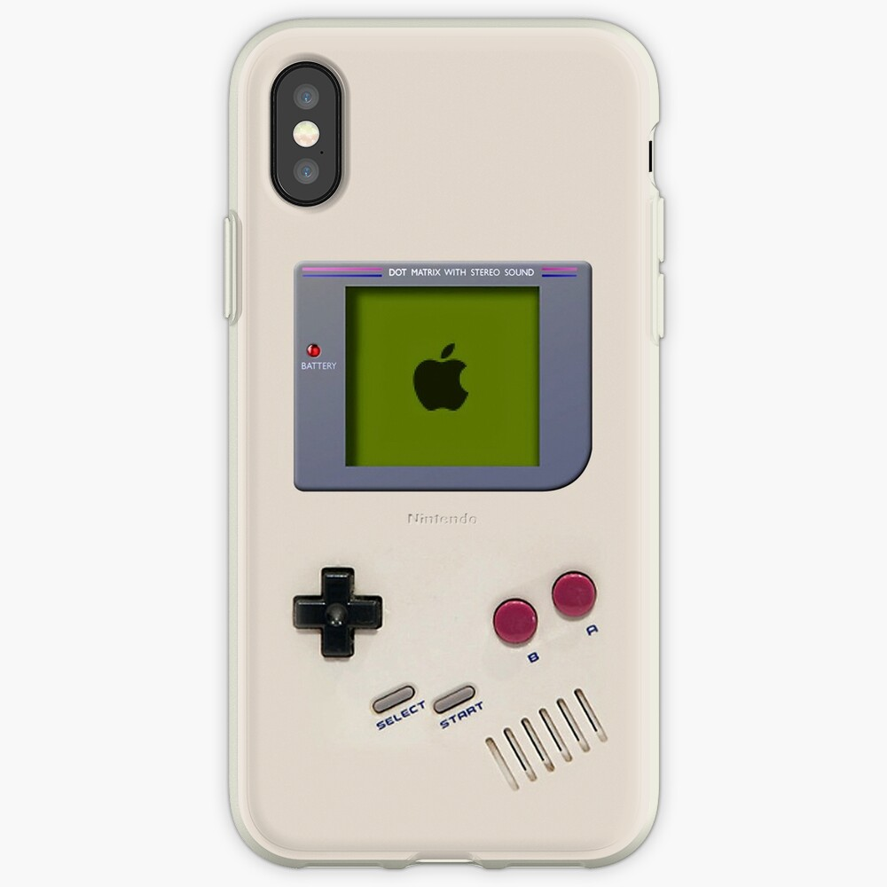 Clásico viejo vintage Retro blanco leche gameboy gameboy Vinilos y fundas para iPhone