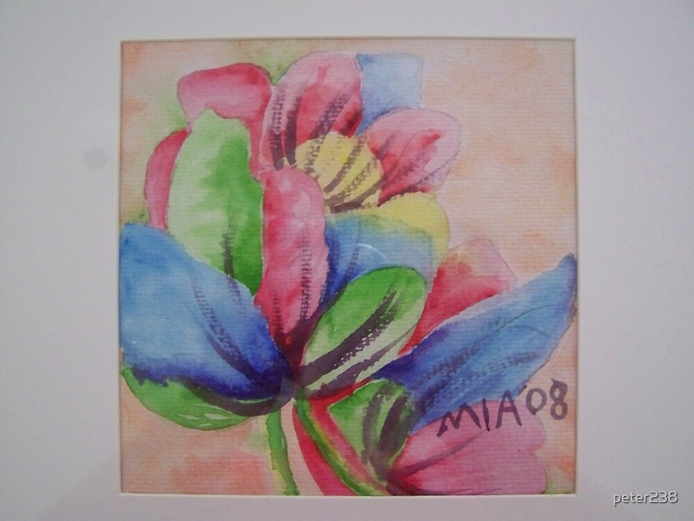 Mia 08 water colour tulip #1 by peter238