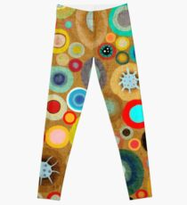 Surfing Waves Swirls Leggings
