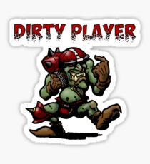 Dirty player red Sticker