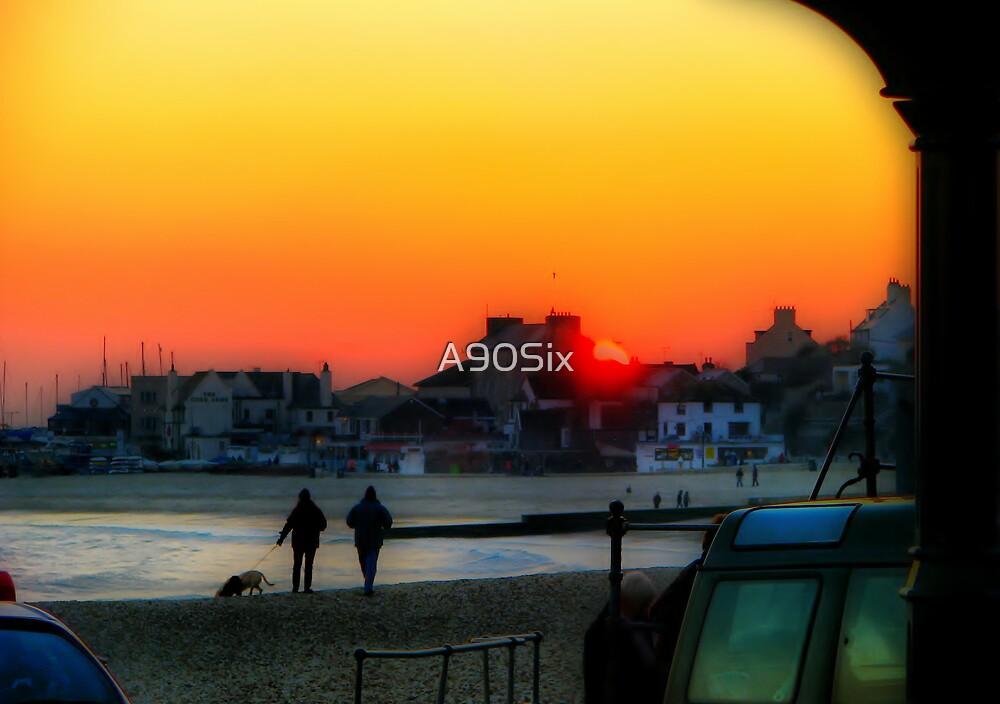 Lyme Regis Sunset by A90Six