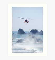Helicopter Rescue Art Print