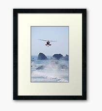 Helicopter Rescue Framed Print