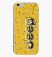 muddy yellow Jeep with chrome typograph iPhone Case
