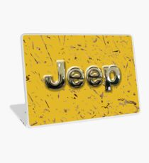 muddy yellow Jeep with chrome typograph Laptop Skin