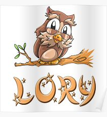 Lory Owl Poster