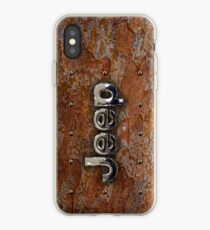 Rustic Jeep with chrome typograph iPhone Case