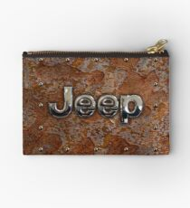 Rustic Jeep with chrome typograph Studio Pouch