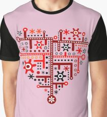 Heart For Valentine Day Graphic T-Shirt