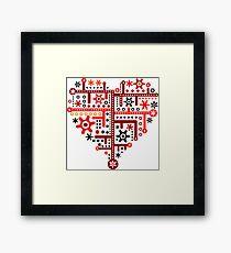 Heart For Valentine Day Framed Print