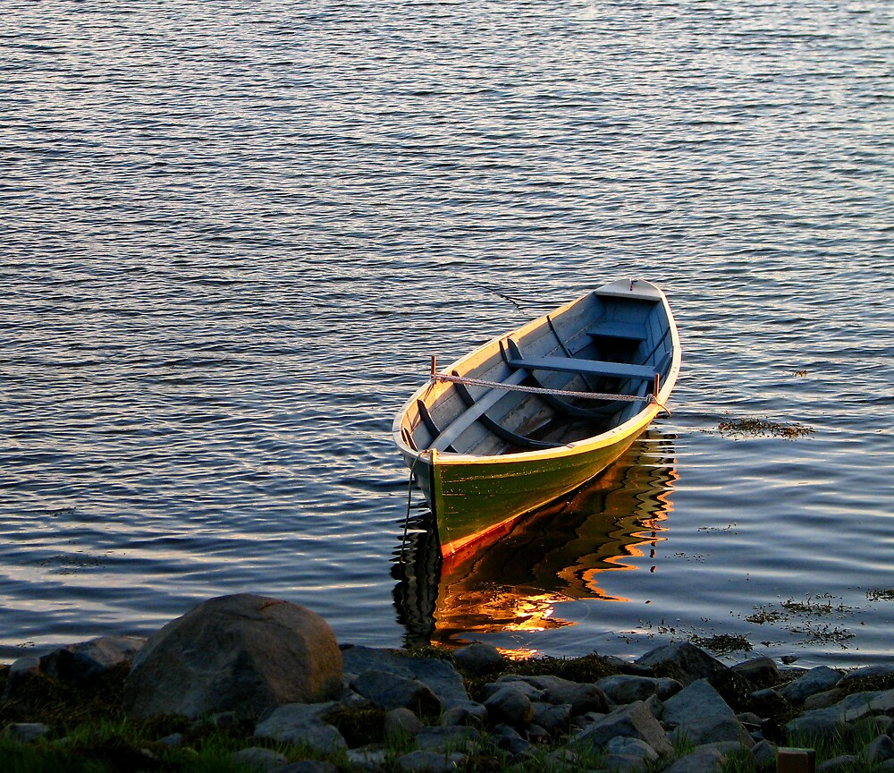 Rowboat at Sunset by Patty Gross
