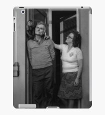 Couple and Monkey - Blackburn a Town and Its People iPad Case/Skin