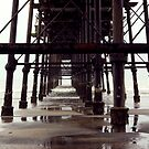 Under The Pier - Saltburn,North Yorkshire by Trevor Kersley