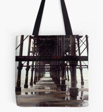 Under The Pier - Saltburn,North Yorkshire Tote Bag