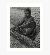 thatching  coconut leaves Art Print