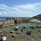 Low Tide at Mousehole Harbour Cornwall  by DeborahDinah