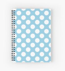 Polka Dots, Spots (Dotted Pattern) - Blue White  Spiral Notebook
