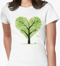 Valentine Tree, Love, Leaf from Hearts Women's Fitted T-Shirt
