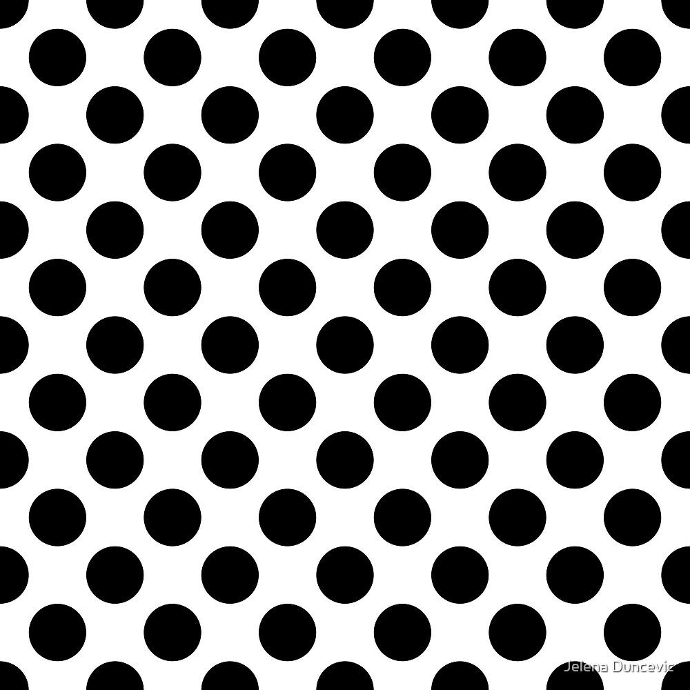 Polka Dots, Spots (Dotted Pattern) - Black White  by sitnica