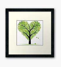 Valentine Tree, Love, Leaf from Hearts Framed Print